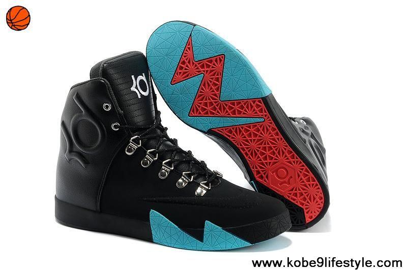 new products f7878 ef63c Authentic Nike KD 6 NSW Lifestyle Leather QS Black Black-Anthracite-Gamma  Blue