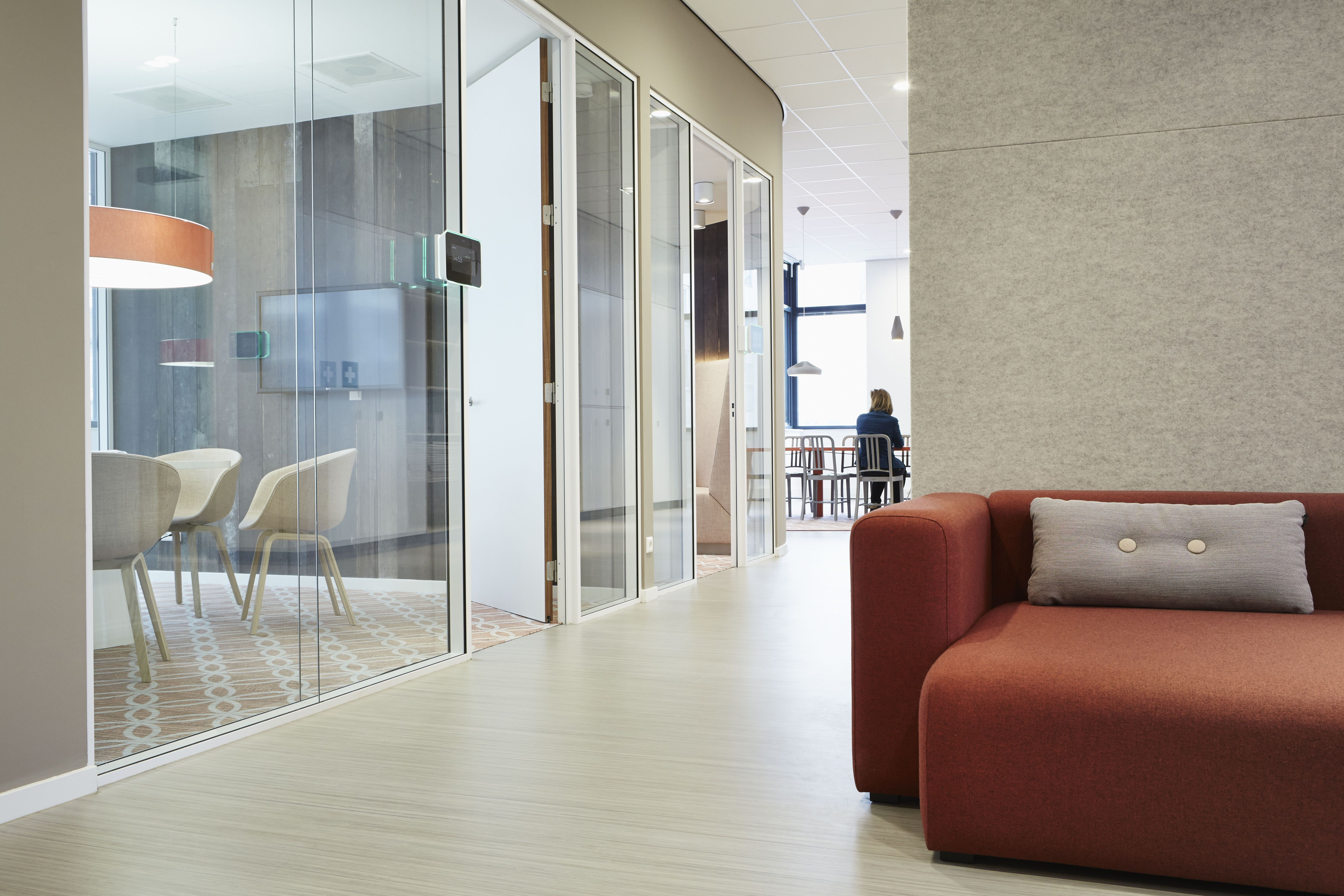 ex interiors created a friendly and appealing office space with