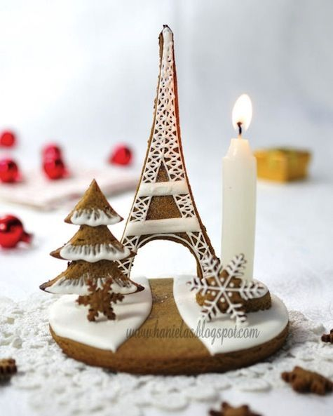 gingerbread, eiffel tower, gingerbread eiffel tower, pairs, Christmas, centerpiece, holiday , winter, Christmas gingerbread