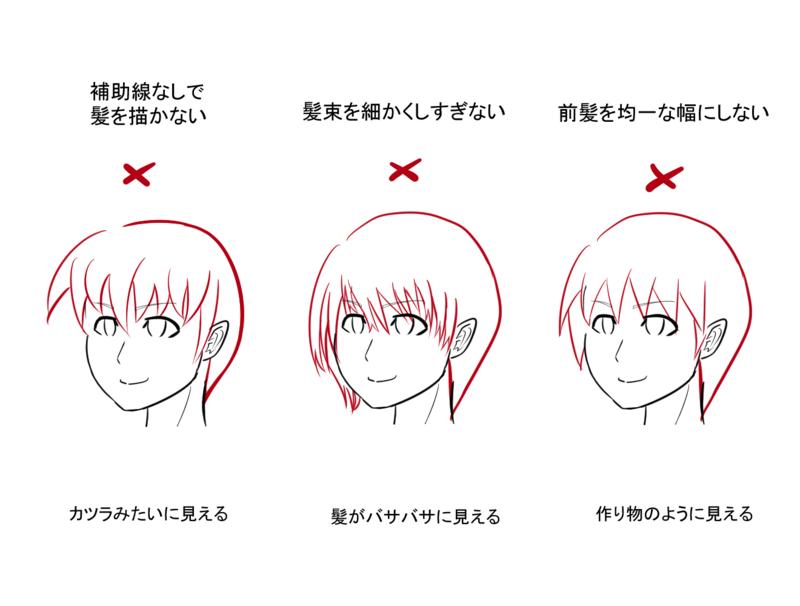 Clip 創作活動応援サイト 髪の毛の描き方 アニメデッサンチュートリアル アートリファレンス