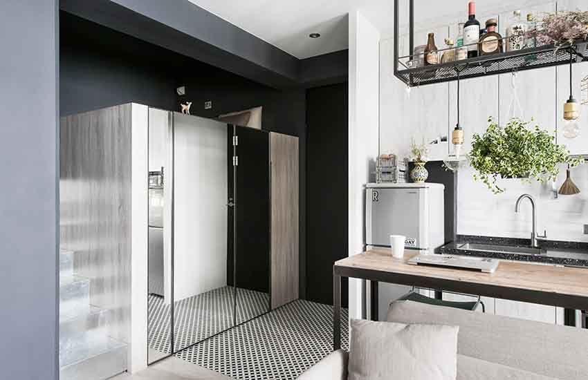 再也不是枯燥的單身女子住宅,臺北的小公寓也能有一份知性優雅 ‧ A Day Magazine   Studio apartment storage, Small ...
