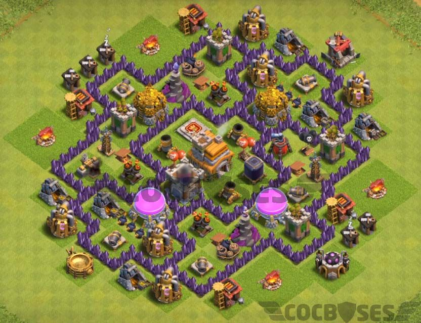 Best Th7 Farming Base Base Coc Th 7 Defense Terbaik 4