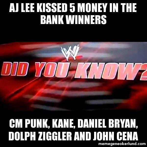 Aj Lee Kisses Cm Punk On Their Date Report This Meme Wrestling