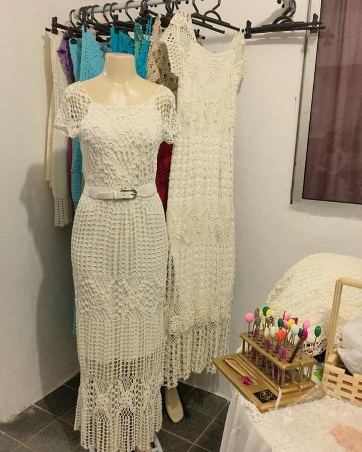 Vestidos largos crochet pinterest