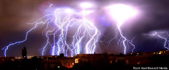lightning bolts bombard albuquerque new mexico pictures pinterest