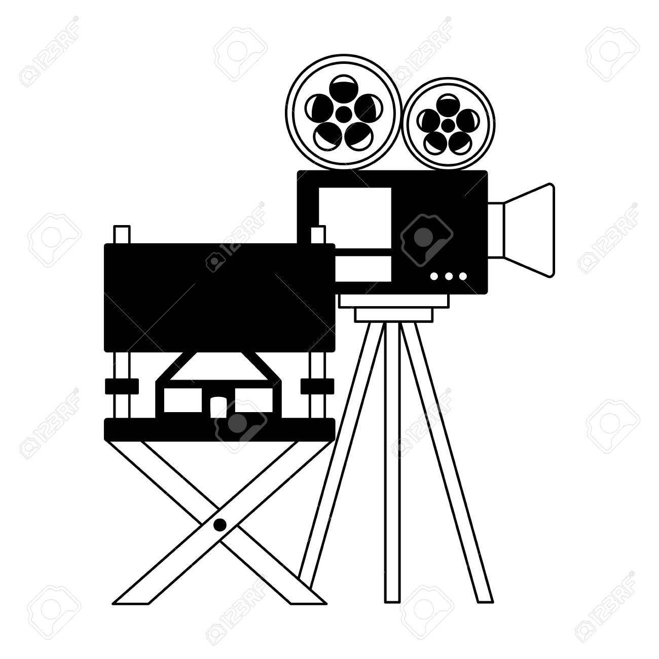 Projector Chair 3d Glasses Cinema Movie Vector Illustration Sponsored Glasses Chair Projector Cinema Illustration Watercolor Logo Templates Art