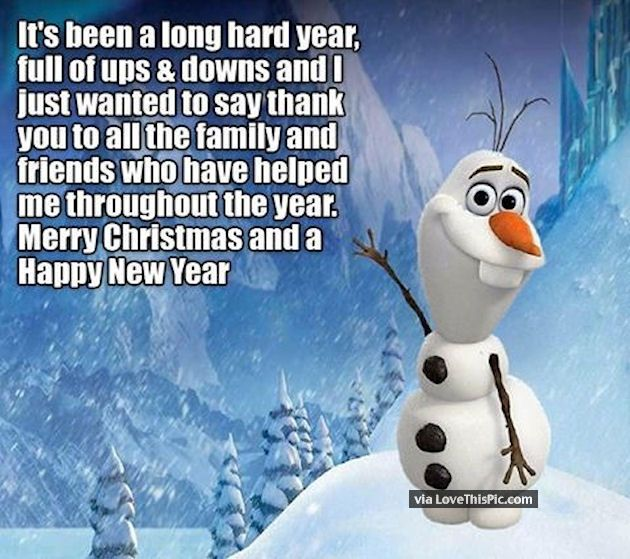 It's Been A Long Hard Year. Merry Christmas And Happy New ...