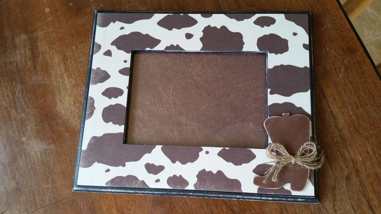COWHIDE FRAME, 5x7 frame, cowboy/cowgirl frame, room decor, nursery ...