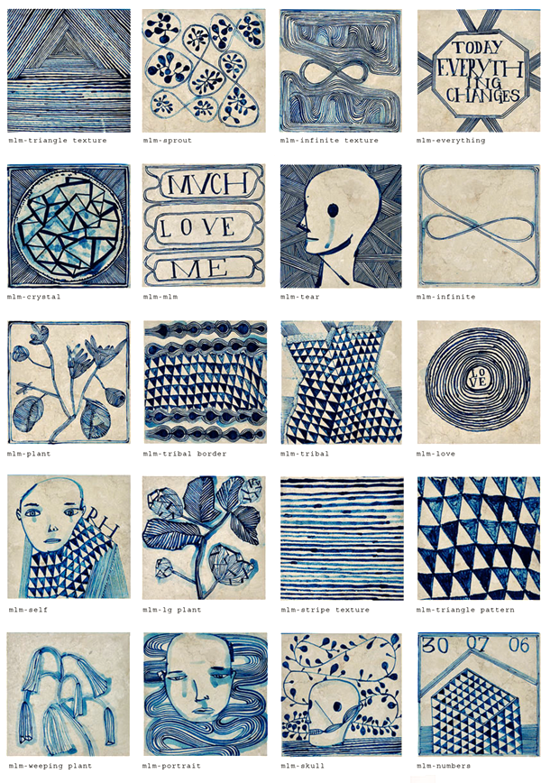 Delft On Acid limited edition tiles by South African artist Ruan ...
