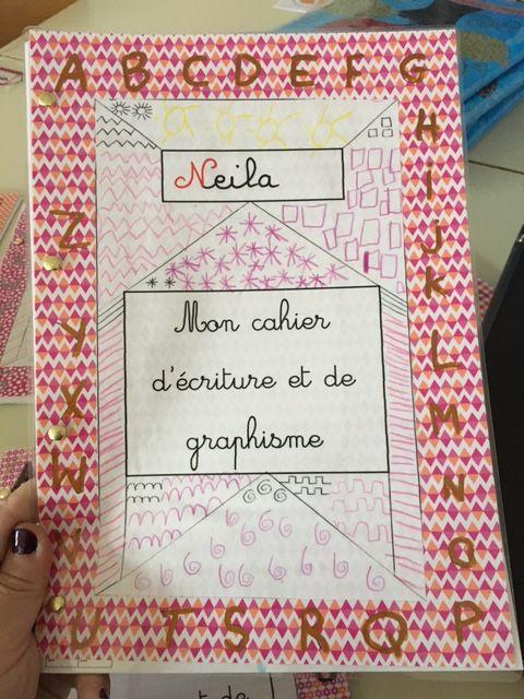 Cahier D Ecriture Chez Les Gs Cahier D Ecriture Cahier De Vie Maternelle Couverture Cahier Maternelle