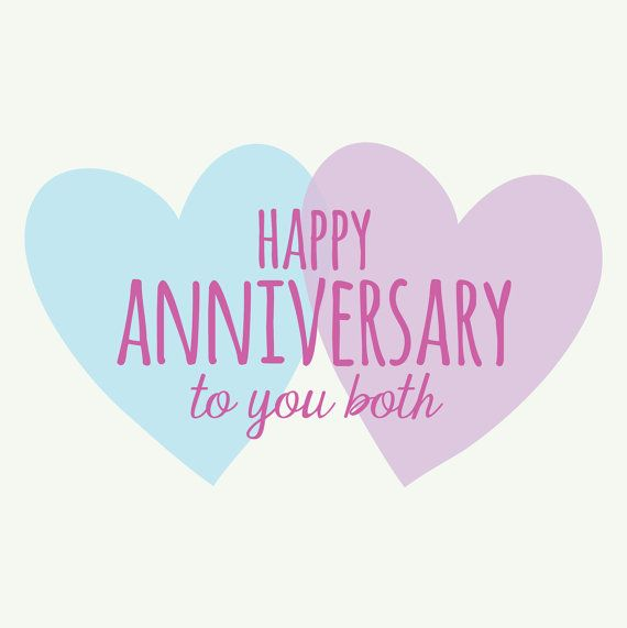 Happy Wedding Anniversary Quotes: Happy Anniversary To You Both Heart Design By