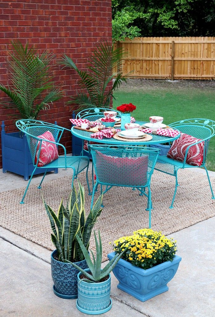 How To Paint Patio Furniture With Chalk Paint Patio Furniture