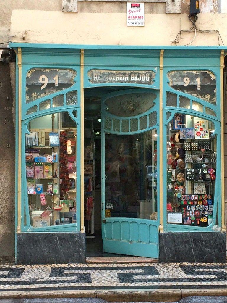lisbon art nouveau shop front