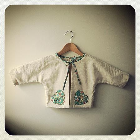 Cute liberty fabric used for pocket detail on jacket.