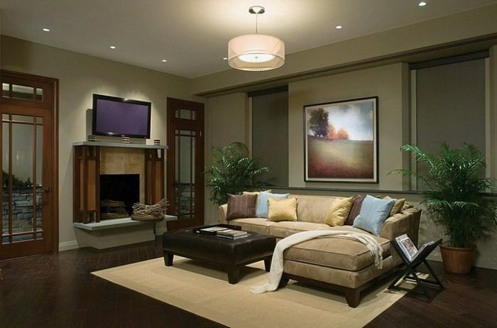 Warm Brown Sofa Beds In Minimalist Simple Living Room