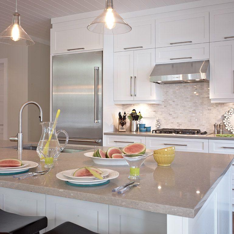 cuisine style contemporain avec r frig rateur encastr cuisine pinterest style. Black Bedroom Furniture Sets. Home Design Ideas