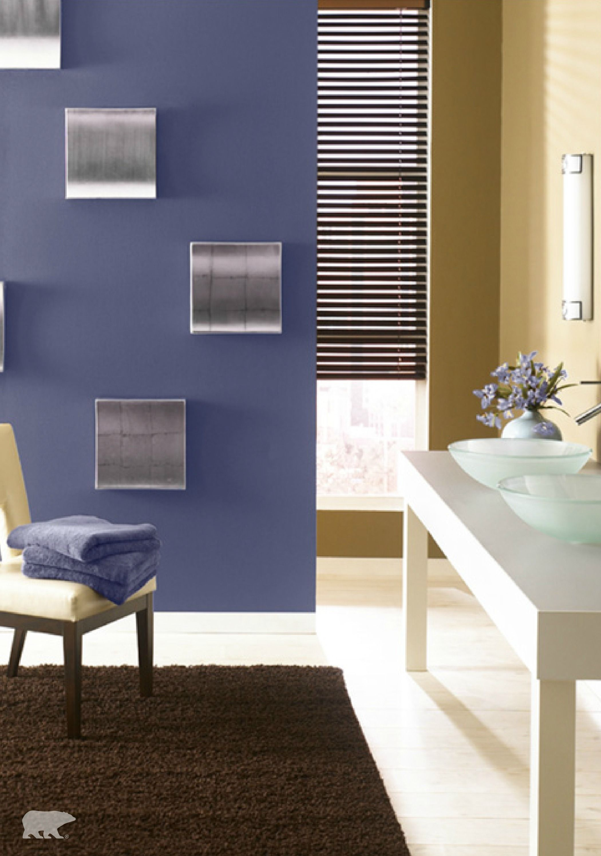 Relaxing Bathroom Colors: Modern, Sophisticated, Simple. Who Doesn't Love Describing