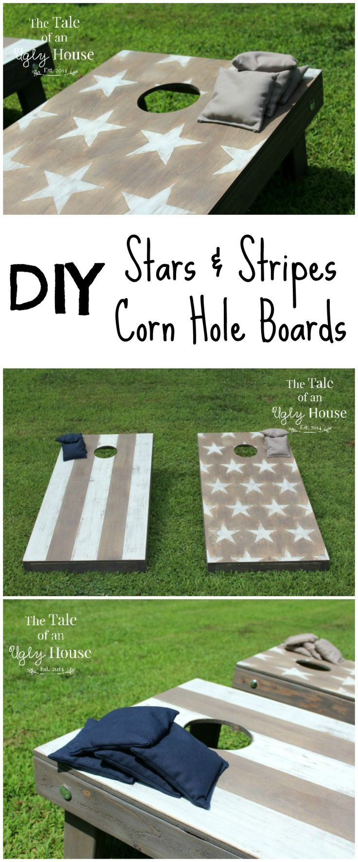 stars stripes corn hole boards - Cornhole Design Ideas