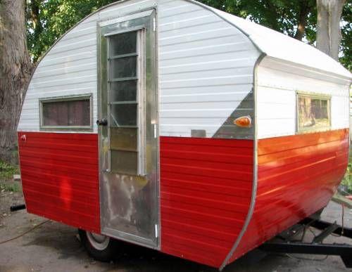 Rare Vintage Little Gem Bugg Travel Trailer Camper Frame up rebuild