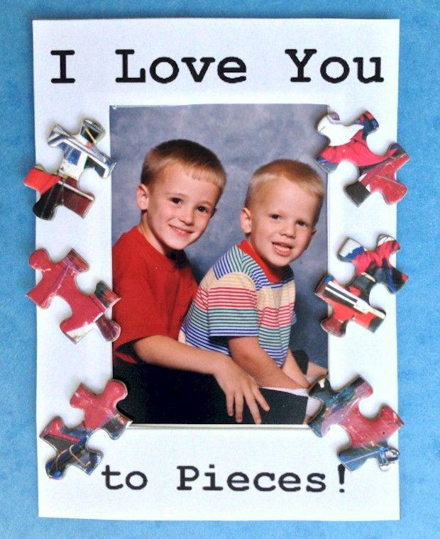I Love You To Pieces Puzzle Piece Frame Printable Frame Template