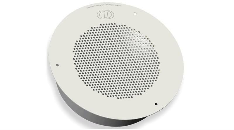 Cyberdata Ceiling VoIP Singlewire Enabled Speaker Gray White 011102