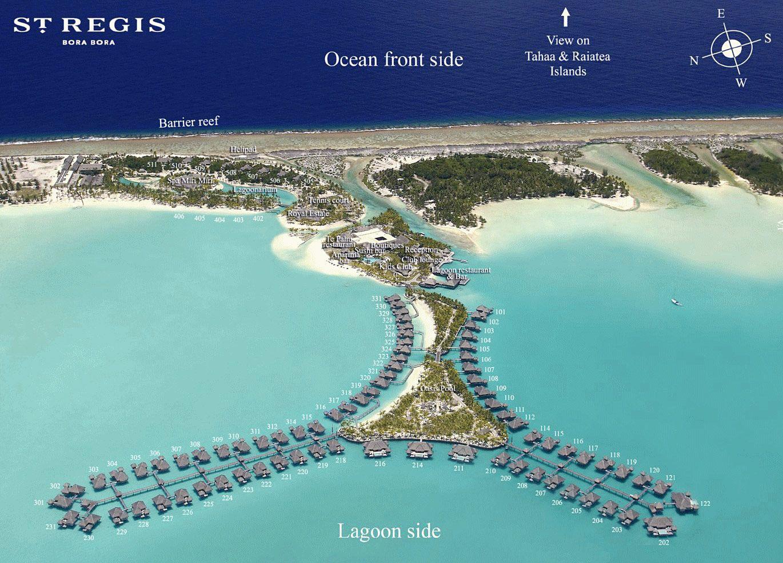 St Regis Hotel Map Visit Bora Bora Bora Bora Resorts