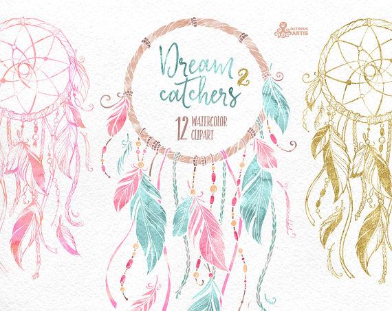 dreamcatchers 2. watercolor clipart