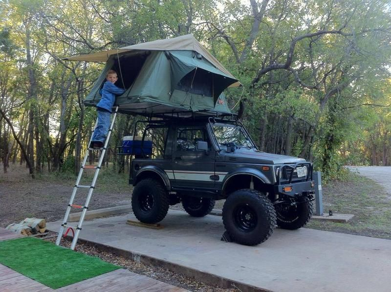 suzuki samurai roof rack make my day camping. Black Bedroom Furniture Sets. Home Design Ideas