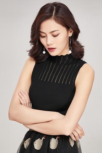 554aa900d0 Mock Turtleneck Knit Tank Top | Fashion | Pinterest | Turtle neck, Knitted  tank top and Tank tops