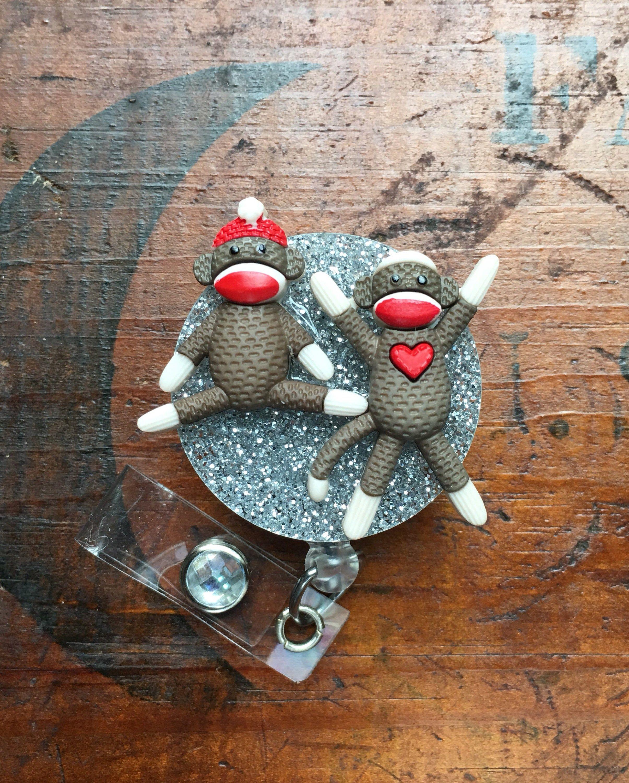 Dock monkey rn id badge rn reel holder or pen holder