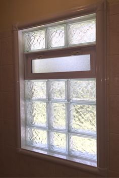Wonder How To Finish The Inside Of A Glass Block Bathroom Window One Way Is To Use An Acrylic Trim Kit Lear Window In Shower Glass Block Windows Glass Blocks
