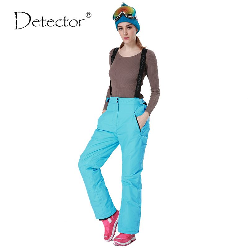 92a2ec41102 -35 degree snow pants plus size elastic waist lady trousers winter skating pants  skiing outdoor ski pants for women