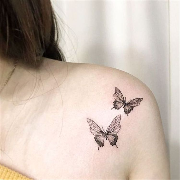 Butterfly Tattoo Ideas You Will Love Butterfly Tattoo Small Butterfly Tattoo Sh Butterfly Tattoo On Shoulder Butterfly Tattoo Designs Small Shoulder Tattoos
