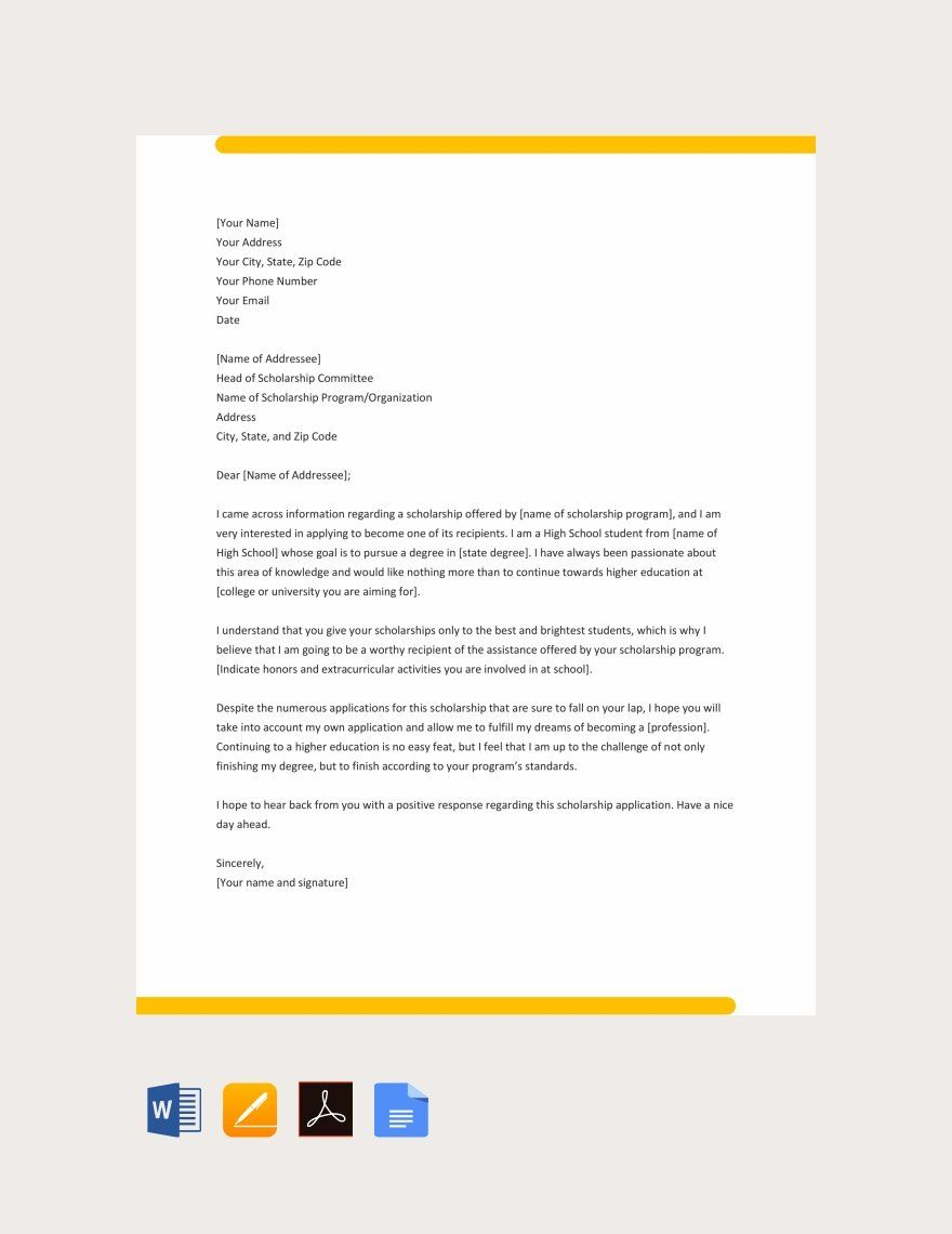 11 Sample College Application Letters Pdf Doc Scholarships For College College Acceptance Letter Application Letters