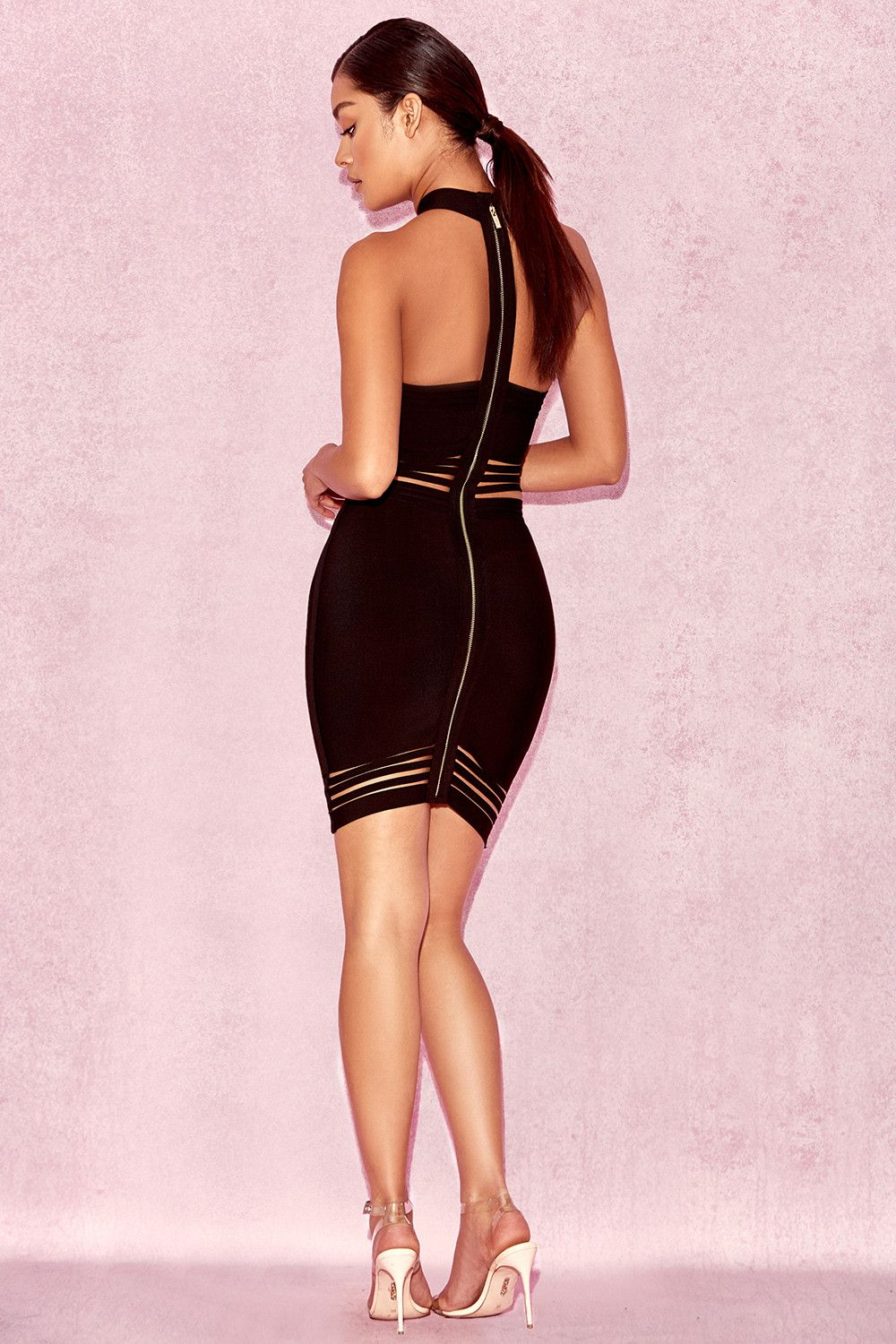 73f38c5e5f Clothing   Bandage Dresses    Sianna  Black Halter Bandage Dress ...