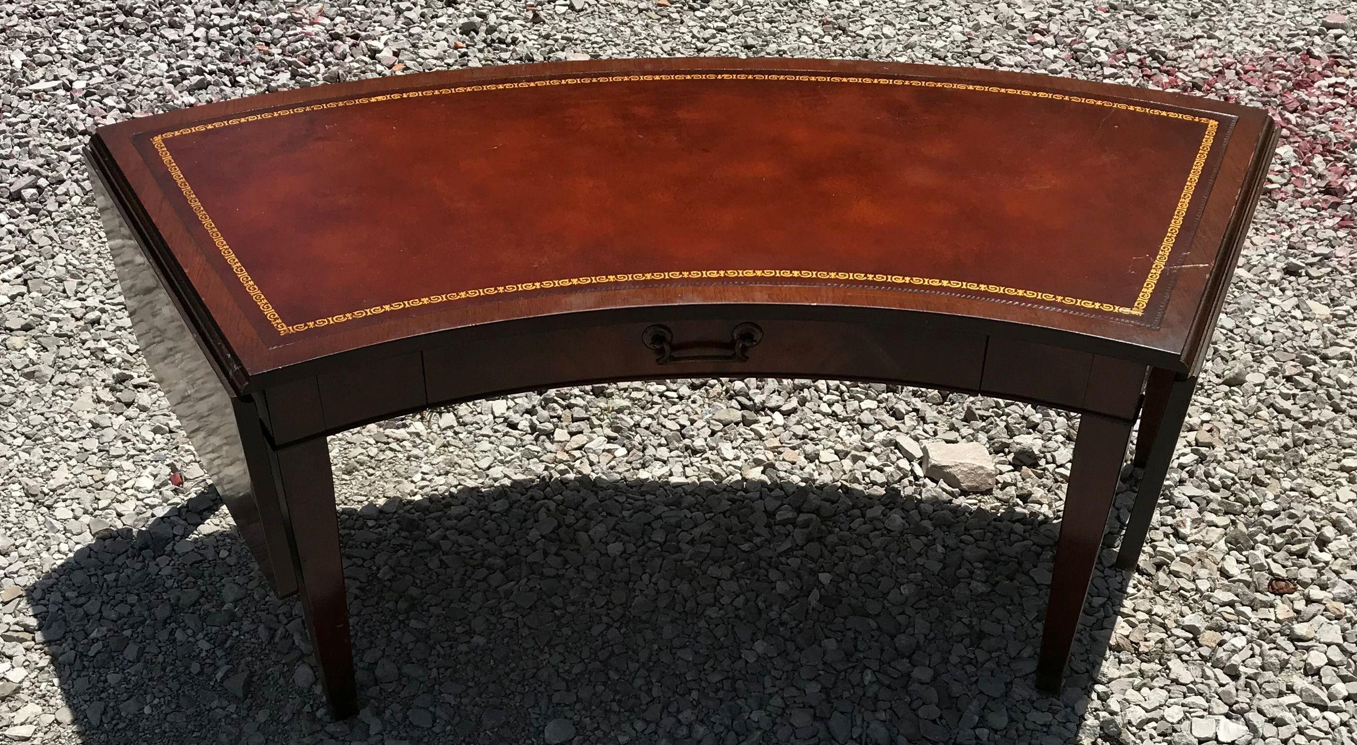 Vintage Lammerts Coffee Table Drop Leaf Genuine Mahogany