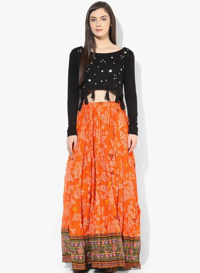 f1e8a75958 Buy Sangria Bandhani Print Flared Skirt for Women Online India, Best  Prices, Reviews | SA038WA79WZSINDFAS