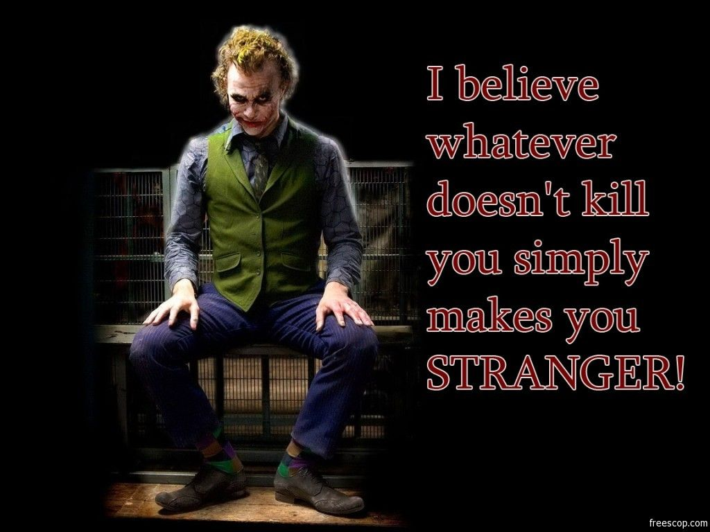 Joker Quotes I Can Imagined This Quote As A Song Geeking Out