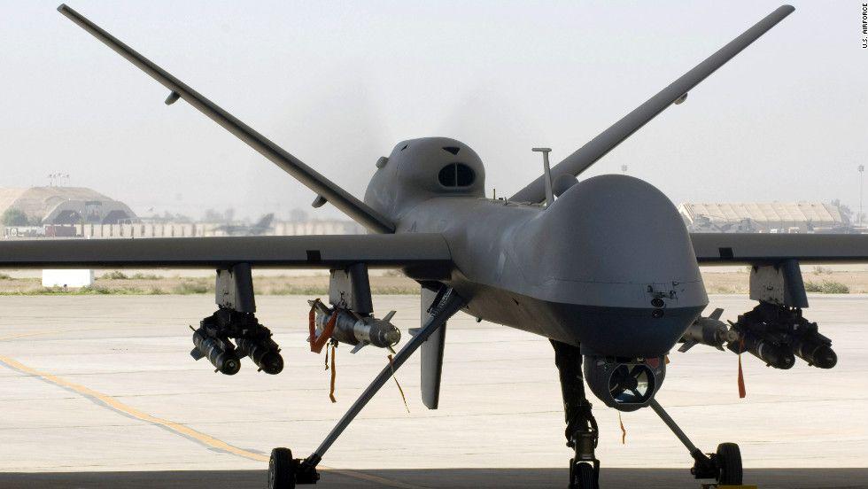 MQ-9 Reaper unmanned aircraft vehicle (UAV). Terrorist mess maker