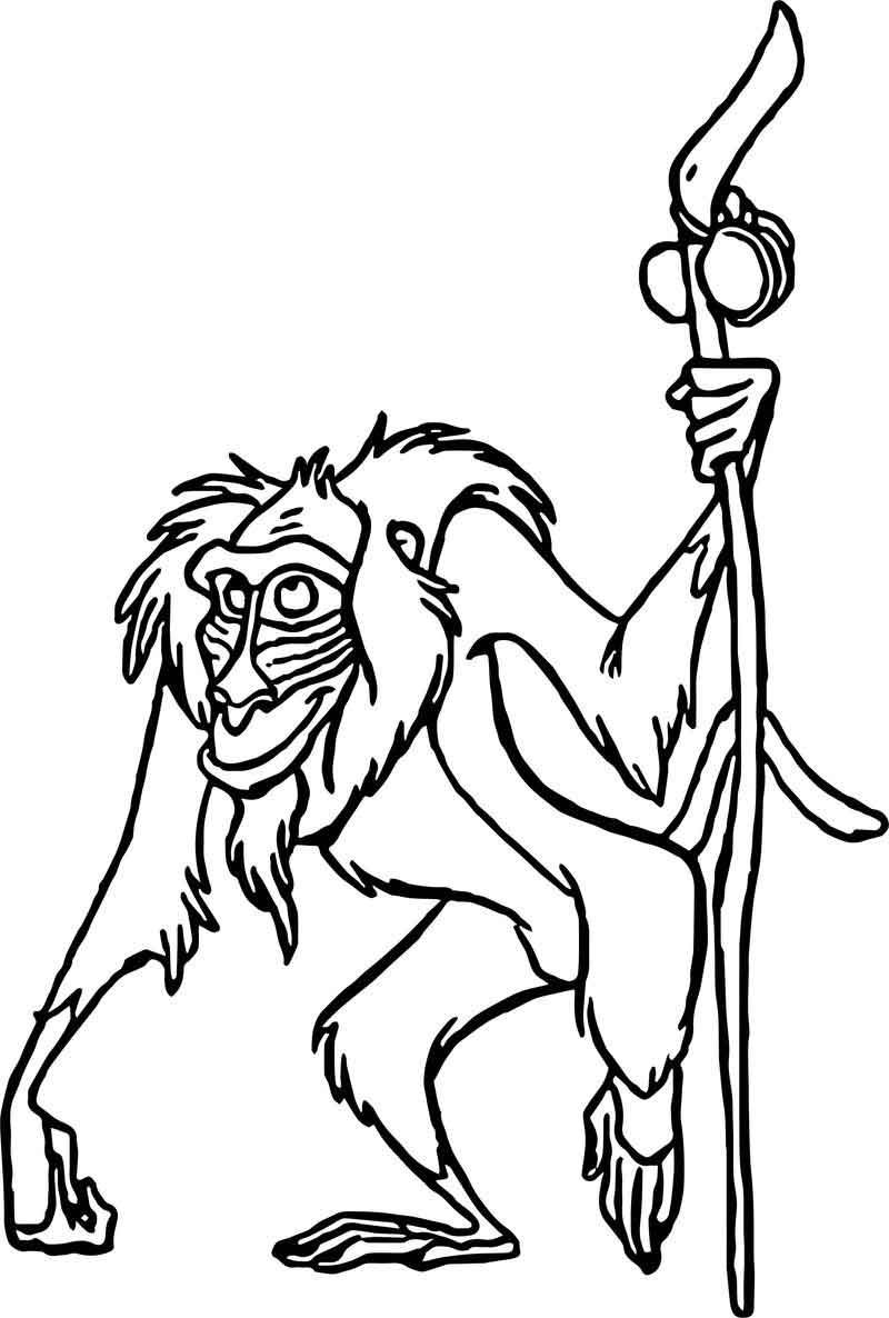 Old Baboon Character Coloring Page Monkey Coloring Pages