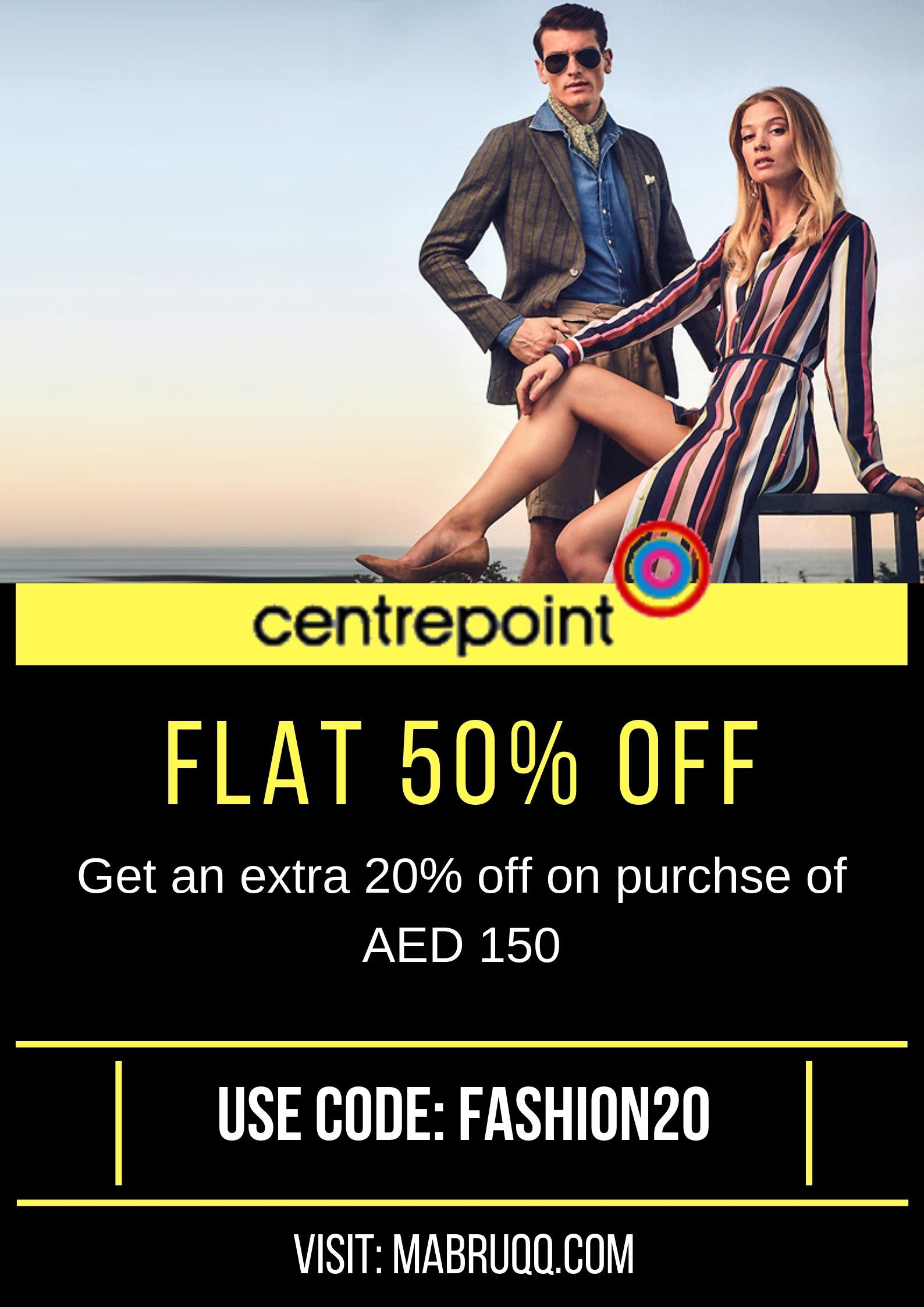 Shop summer collection from centrepoint and get flat 50