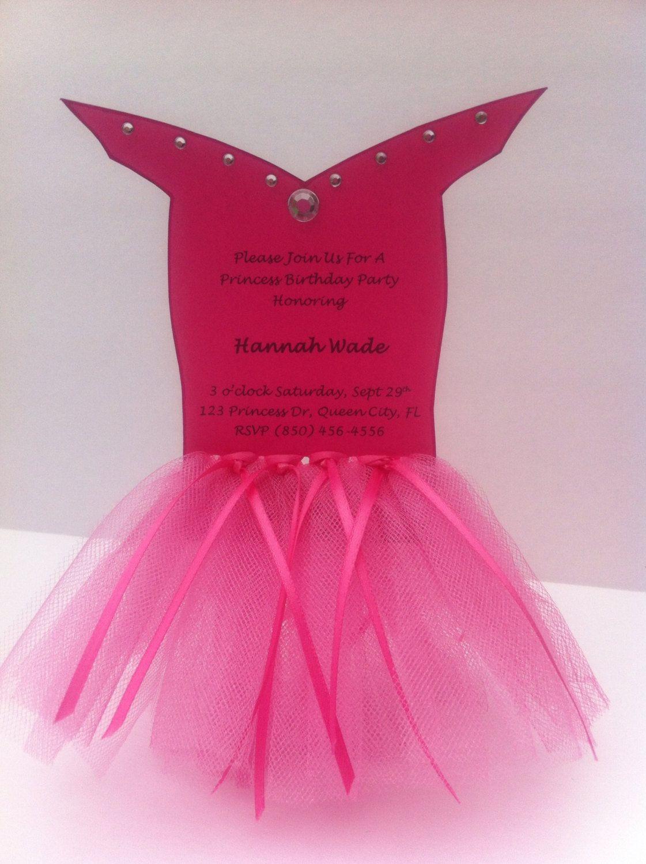 Princess Aurora Sleeping Beauty Tutu Party Invitation- Set of 8 ...