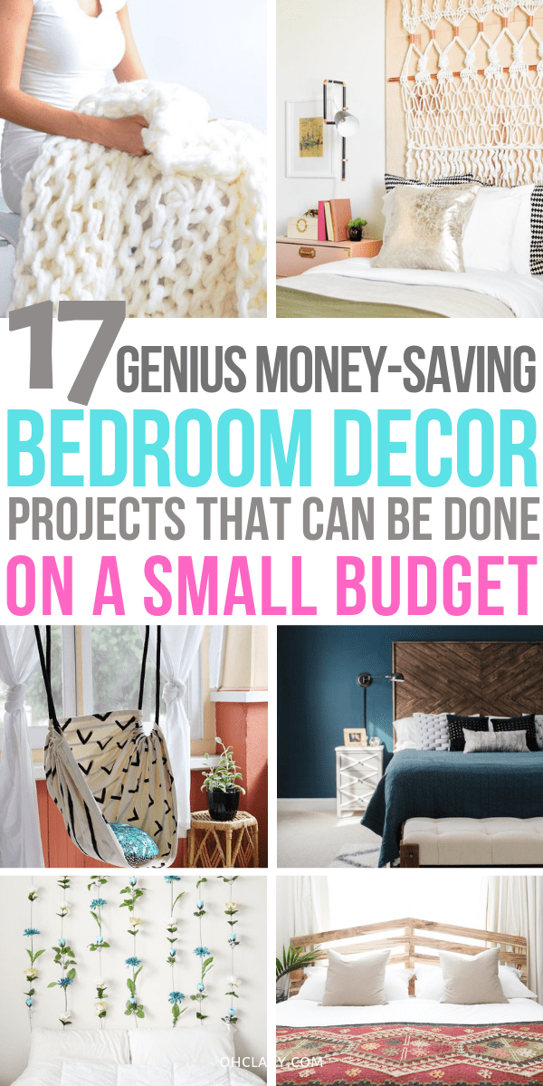 17 Diy Bedroom Projects To Make Your Room Super Cozy Bedroom Decor On A Budget Diy Projects For Bedroom Romantic Bedroom Decor
