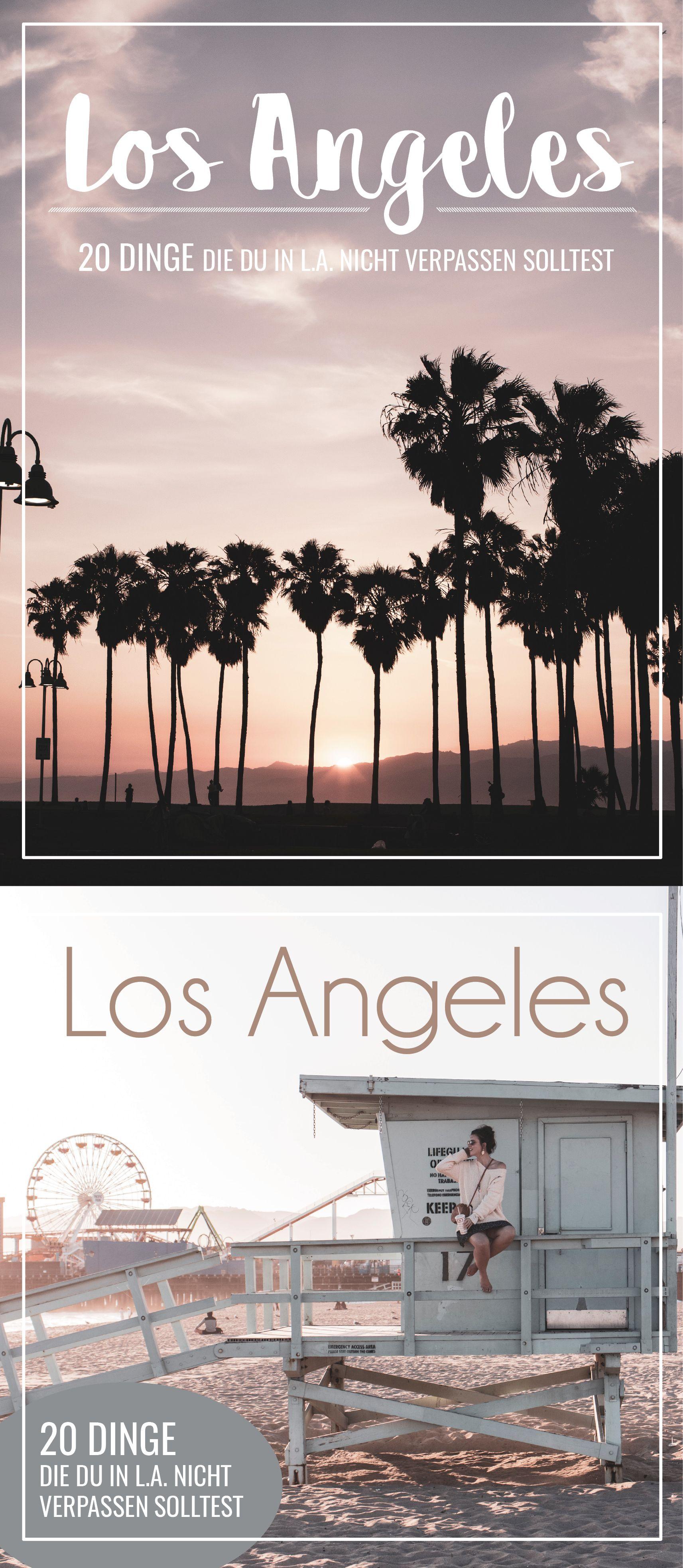 20 Dinge die du in Los Angeles erlebet haben musst. Sollte dir jemand erzählen, dass man in L.A. nichts unternehmen kann, dann haben wir hier 20 ultimative Tipps, die jede Langeweile vertreiben und ihr ja vielleicht sogar noch eine Nacht länger in der Stadt er Sternchen bleiben wollt. #usatravel