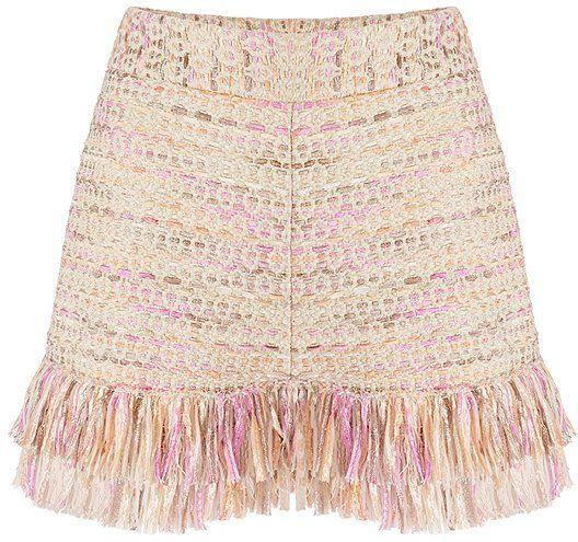DVF Metallic Tweed Shorts ($368)