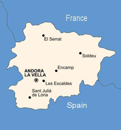 Andorra Map Andorra Pinterest Andorra Resorts and Wanderlust