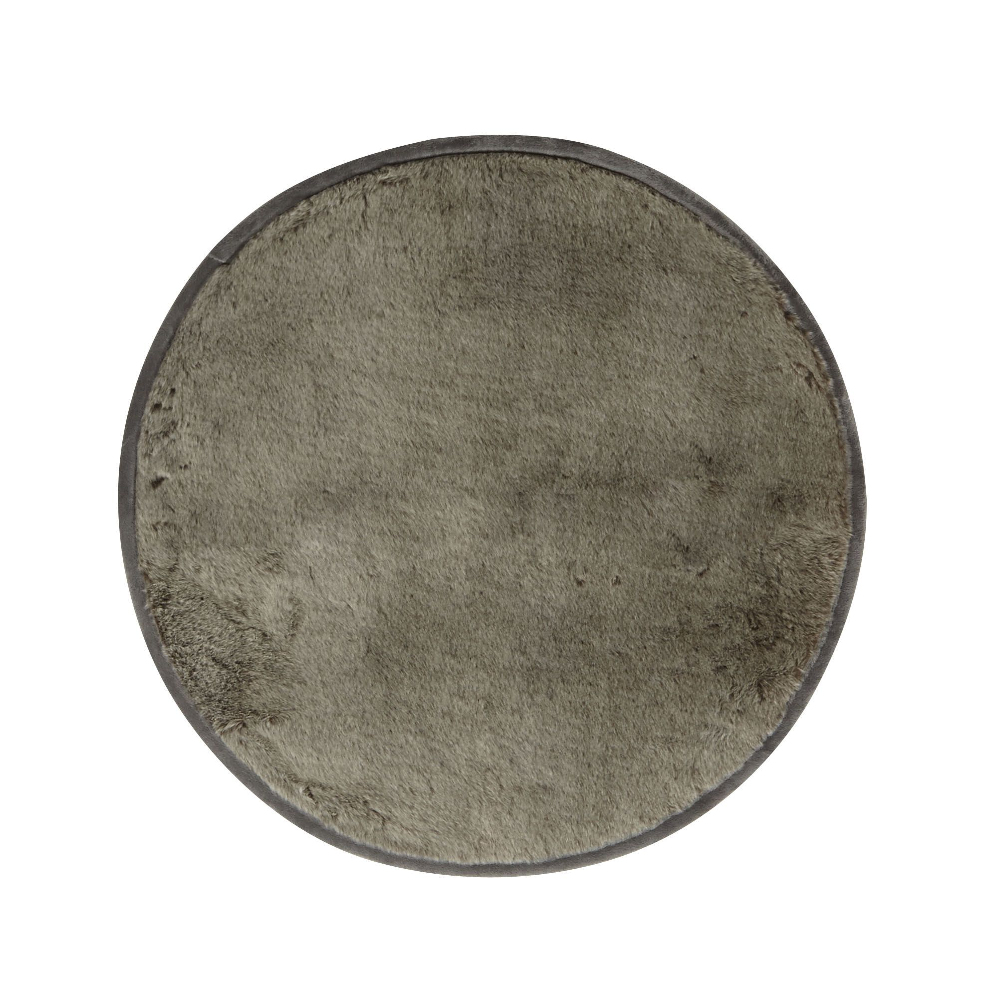 Tapis rond fourrure D150cm Gris - Dallas - Les tapis - Textiles et ...