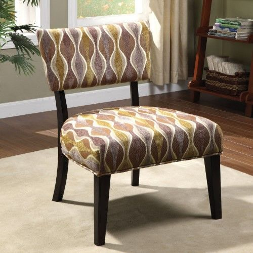 Furniture of America Swivel Genti Accent Chair The Living Room