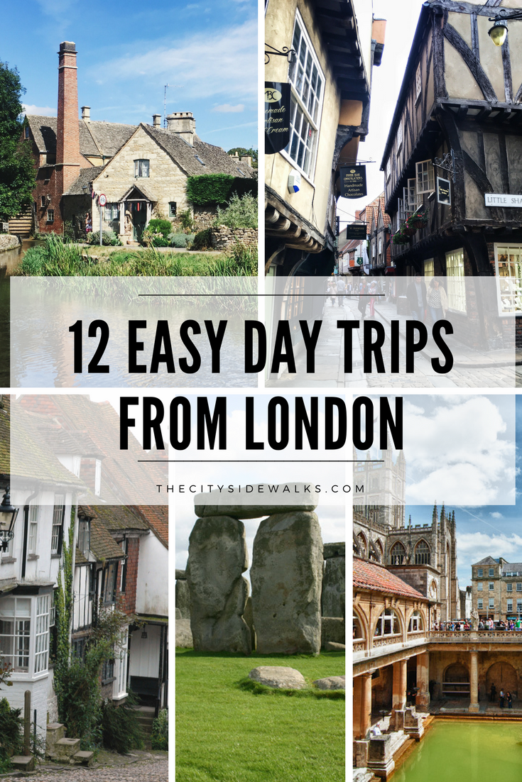 "If you're lucky enough to have more than a few days to spare while traveling in London, you might want to consider taking a day trip to explore some other destinations nearby. Get some ""destination inspiration"" with these 12 day trips from London that are all easily accessible by train, bus, or plane!"