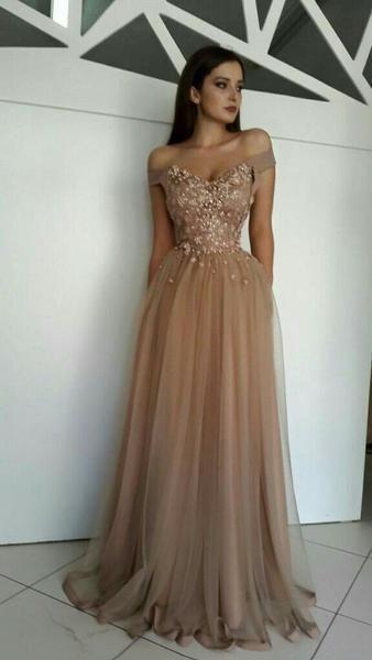 #Abendkleider #Günstige #Kleider #Lange #Perlen # ...